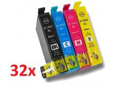 PACK 32 EPSON T1631/2/3/4 COMPATIBLE