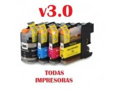 PACK 4 BROTHER LC-123 COMPATIBLE v3.0