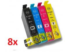 PACK 8 EPSON T1631/2/3/4 COMPATIBLE